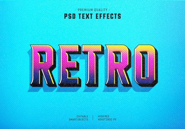 Kolorowy efekt stylu retro tekstu