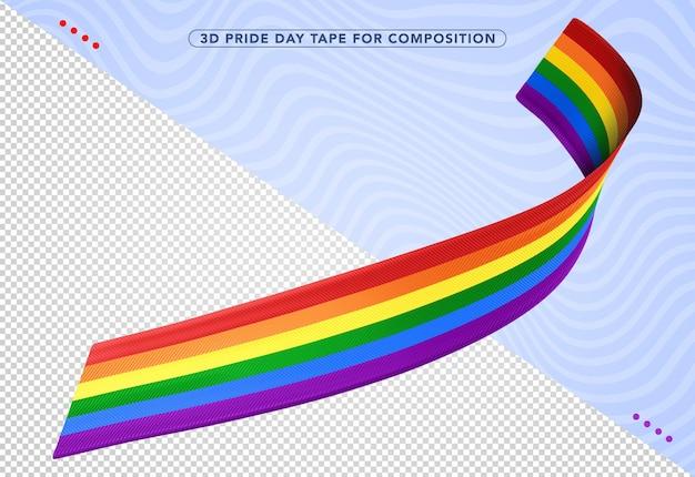 Kolorowy krawat miesiąca renderowania dumy