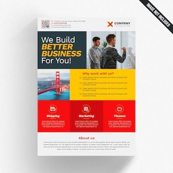 Kolorowy nowoczesny biznes broszura makieta