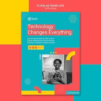 Kolorowy szablon druku technologii
