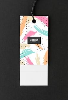 Kolorowy zakładki tag makieta projektu