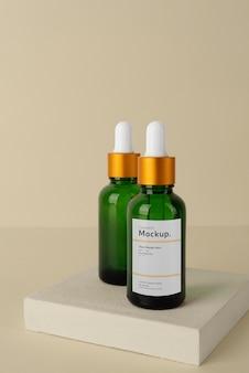 Kompozycja makiety olejków kosmetycznych