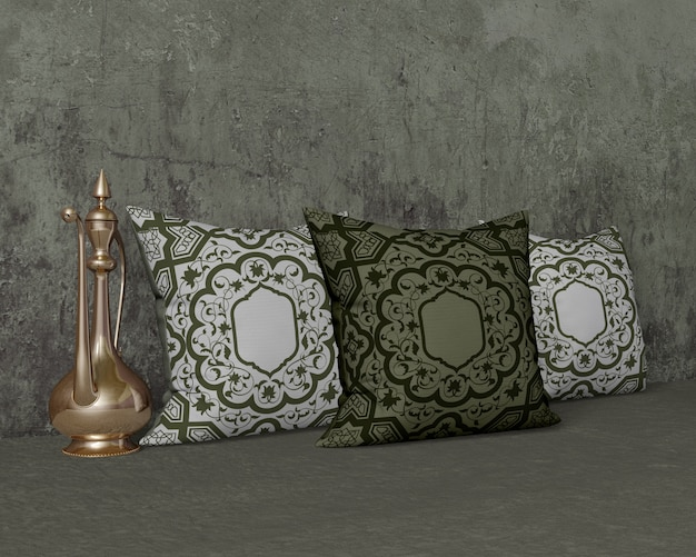 Kompozycja różnych obiektów ramadanu