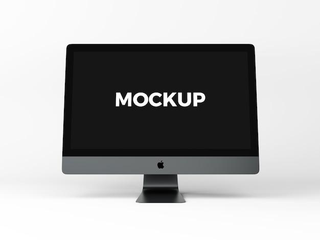 Komputer na białym tle makieta