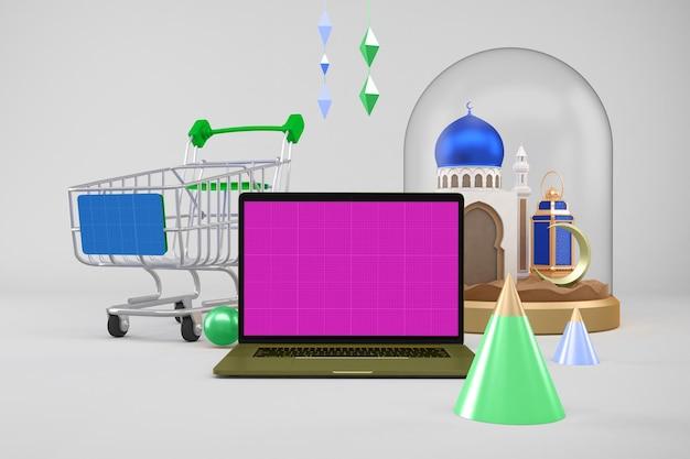 Komputer na zakupy podczas ramadanu