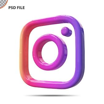 Koncepcja 3d ikona instagram