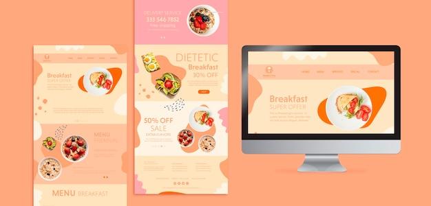 Koncepcja brunchu z dietetycznym śniadaniem