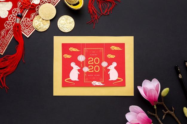 Koncepcja chińskiego nowego roku z makiety