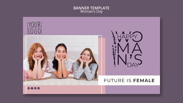 Koncepcja dzień womans szablon transparent
