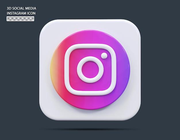 Koncepcja ikony mediów społecznościowych instagram 3d render