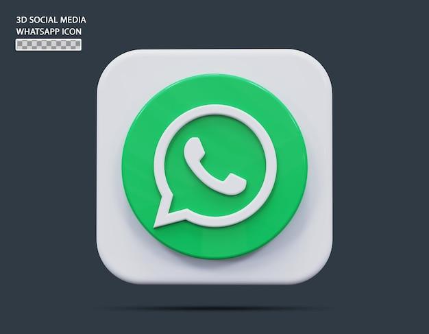 Koncepcja ikony mediów społecznościowych whatsapp 3d render