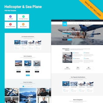 Koncepcja interfejsu użytkownika flying academy web design