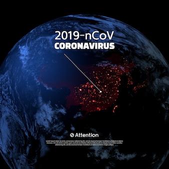 Koncepcja koronawirusa 2019-ncov