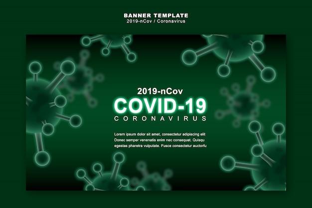 Koncepcja koronawirusa lub covid-19, szablon transparentu