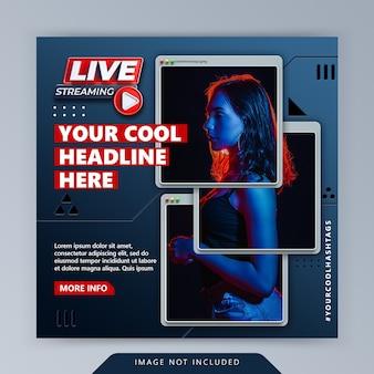 Koncepcja kreatywna cyber retro komputer minimalistyczny zakładka instagram post promocyjny szablon