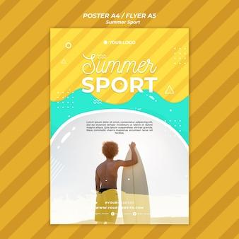 Koncepcja lato sport ulotki