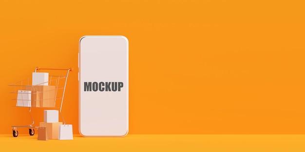 Koncepcja marketingu cyfrowego z makietą telefonu