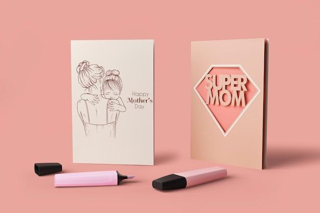 Koncepcja międzynarodowego dnia matki z makietą