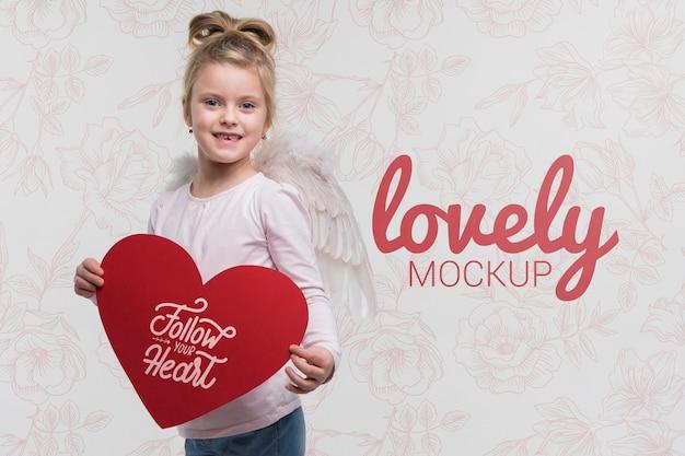 Koncepcja miłości piękne dziecko