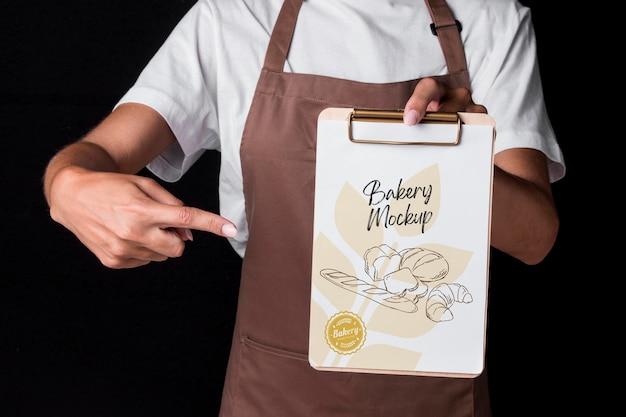 Koncepcja pieczywa z makietą