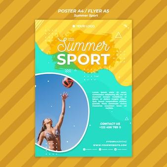 Koncepcja plakat lato sport