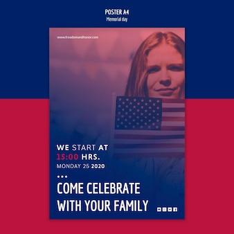 Koncepcja plakat plakat dzień pamięci
