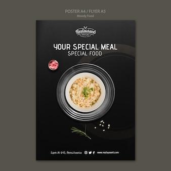 Koncepcja plakat restauracja nastrojowe jedzenie