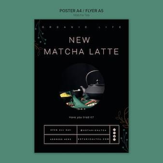 Koncepcja plakat zdrowy matcha herbaty