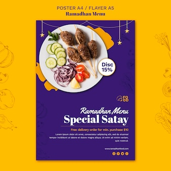 Koncepcja plakatu menu ramadhan
