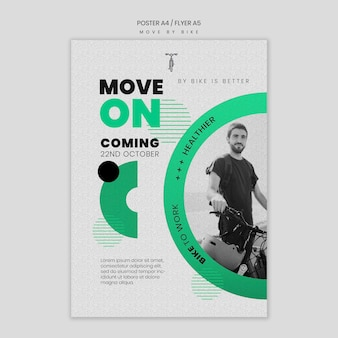 Koncepcja plakatu poruszania się rowerem
