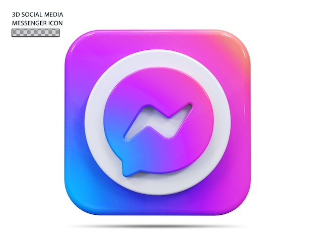 Koncepcja renderowania 3d icon messenger