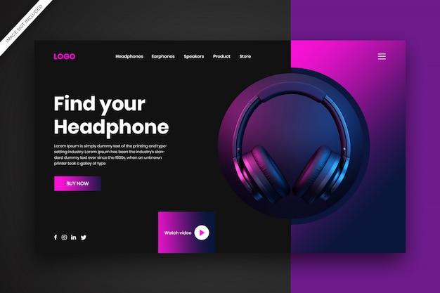 Koncepcja strony docelowej słuchawek