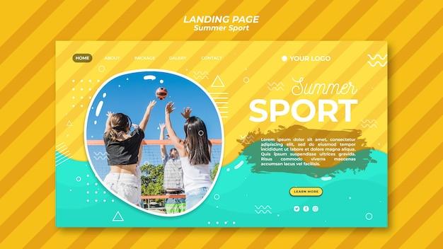 Koncepcja strony docelowej sport letni