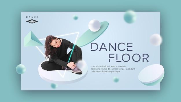 Koncepcja szablon transparent parkiecie tanecznym