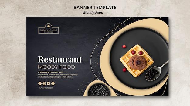 Koncepcja szablon transparent restauracja nastrojowe jedzenie