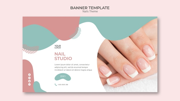 Koncepcja szablon transparent studio paznokci