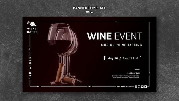 Koncepcja szablon transparent wino