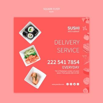 Koncepcja szablon ulotki sushi