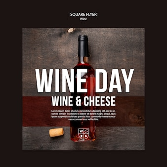Koncepcja szablon ulotki wina