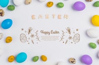 Koncepcja Wielkanoc makieta ścienna