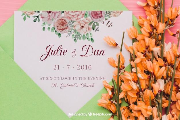 Koncepcja zaproszenia na wesele