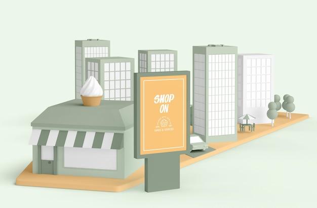 Koncepcja zewnętrznego sklepu handlowego