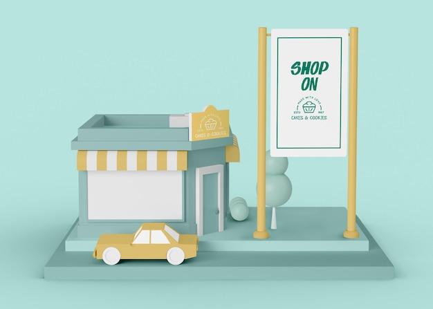 Koncepcja zewnętrznego sklepu reklamowego