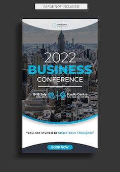 Konferencja korporacyjna dotycząca szablonu historii na instagramie