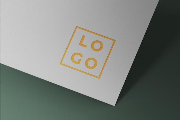 Konfigurowalna makieta wizytówki z białego papieru