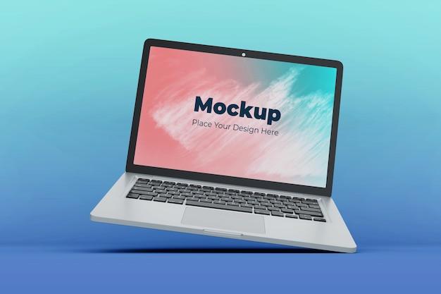 Konfigurowalny szablon makiety pływającego ekranu laptopa