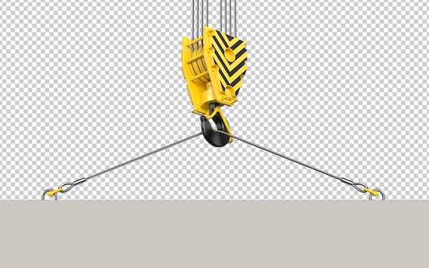 Konstrukcja haka dźwigowego do podnoszenia płyty betonowej