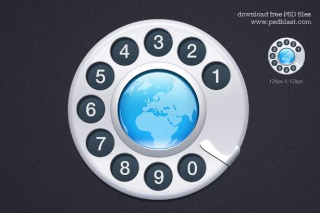 Kontakt ikona psd