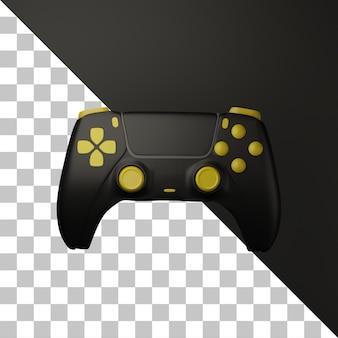 Kontroler gier z ikoną 3d z ciemnym tłem koloru