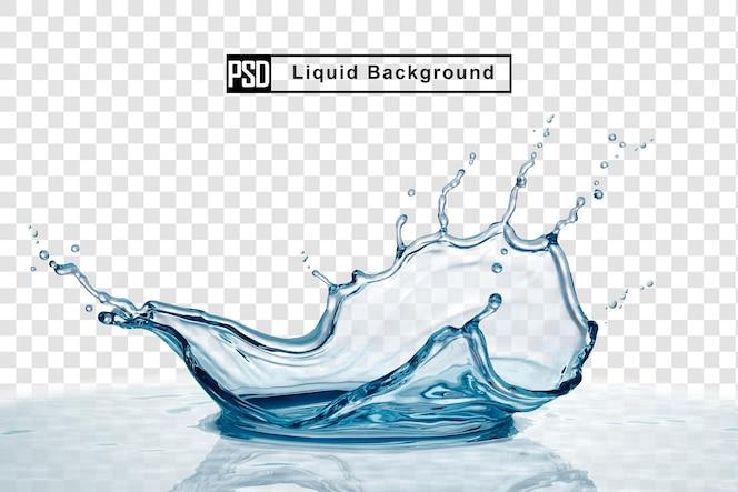 Korona plusk wody na białym tle